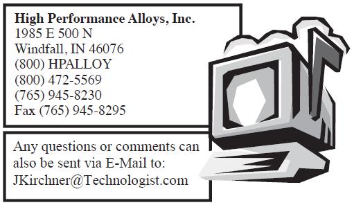HPAlloy alloy C276